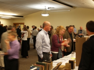 Visitors to the Seminary display tables