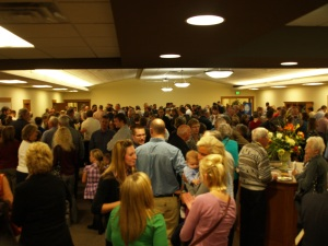 Friday's full fellowship room!