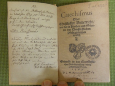 Inside title page of the 1563 HC German ed