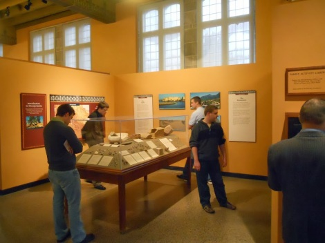 Students check out the Mesopotamia displays at the Oriental Institute.