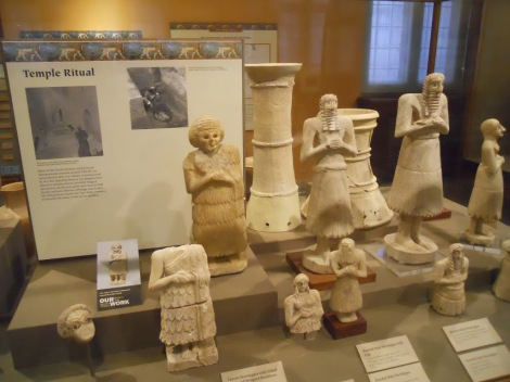 A large portion of the displays is devoted to the religions (pagan and false) of the Near Eastern nations, such as this one.