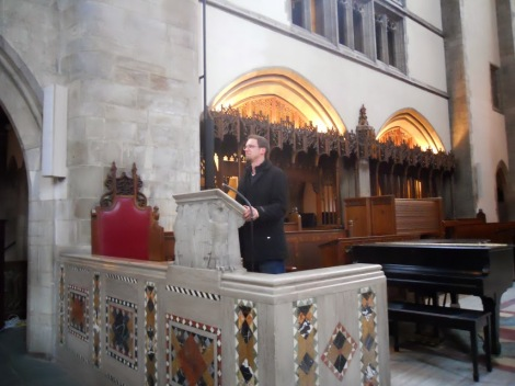 And another distinguished student in the smaller pulpit/lectern. If only the chapel could hear Reformed preaching!
