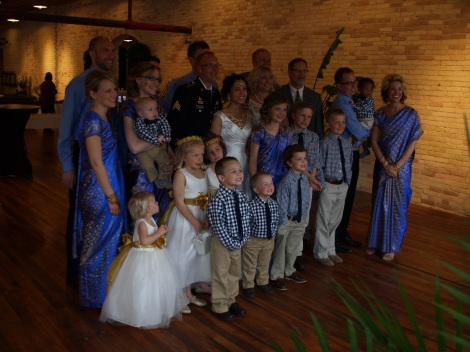 A family picture - Verna and I with our six children and eleven grandchildren.