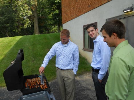 Today's master griller and assistants.