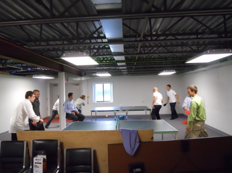 The ping-pongers going at it.