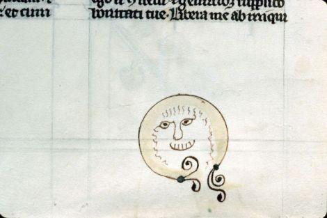 Medieval book doodling