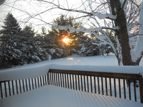 Another view of the progressing sunrise in our backyard.