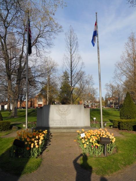 The Veterans' Memorial in Central Park
