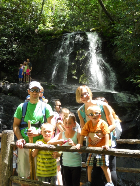 Matt & Kim & kids at Laurel Falls