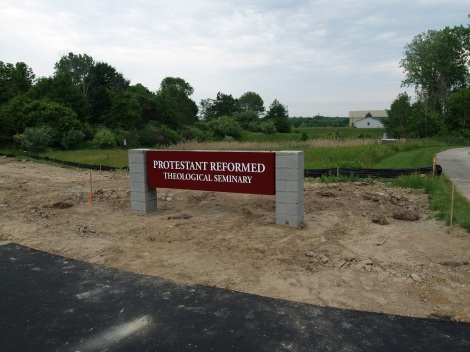 New Seminary entrance sign