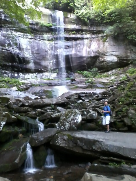 Matt and I did hiked to Rainbow Falls alone this early this morning. Another gem!