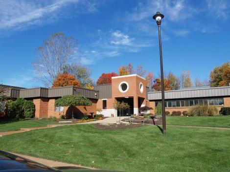 Seminary building entrance