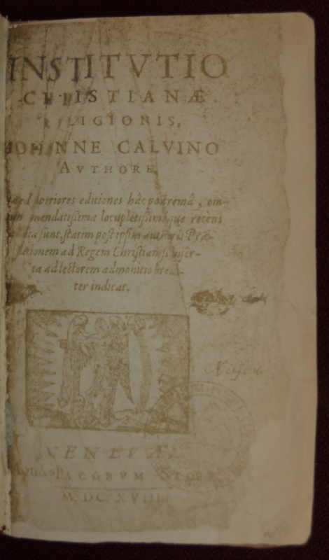 "Title page of 1618 ""Institutes"""