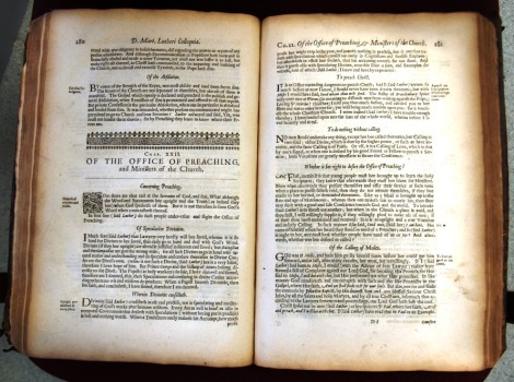 "Inside pages of Luther's ""Discourses"""