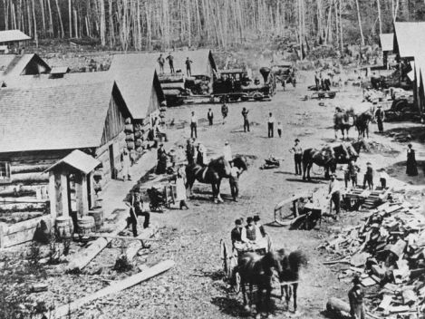 Michigan-logging-camp