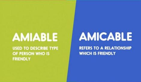 amiable-amicable