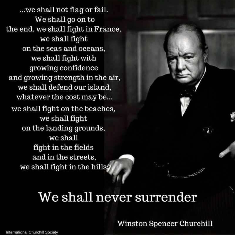 Winston Churchill Quotes Beginning Of The End: Grammar Check! Churchill's Speech, Or Shall I Or Will I