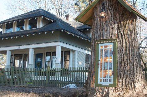 little-free-library-tree-stump
