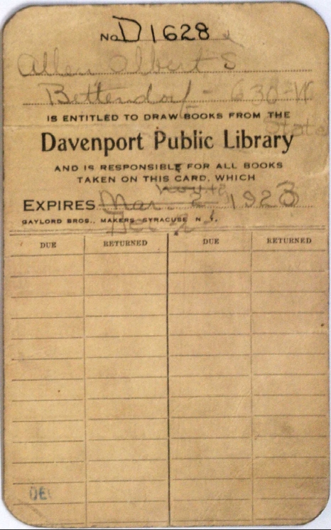 Old library card